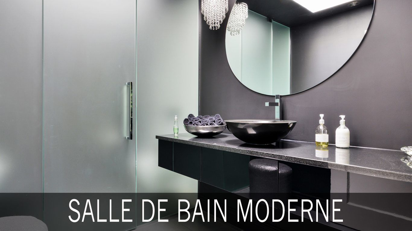 salle de bain moderne id es photos tendances. Black Bedroom Furniture Sets. Home Design Ideas