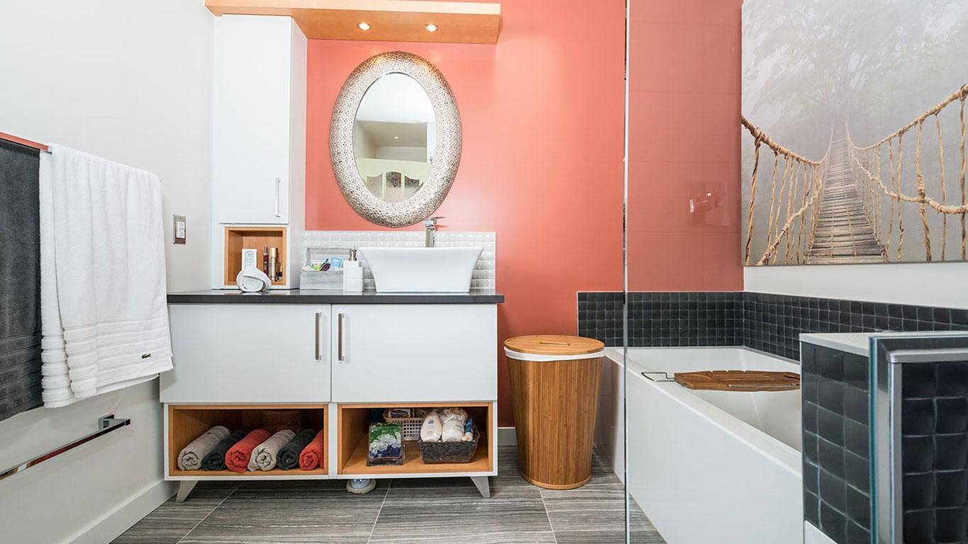 salle de bain transitionnelle centre design r alit. Black Bedroom Furniture Sets. Home Design Ideas